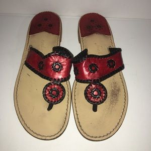 Red and black Jack Rogers size 11